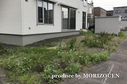 お庭リフォームの施工前の写真