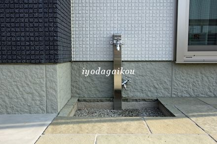 立水栓は使い易い2口蛇口にて