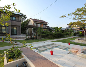 〜季節と一緒に流れる時間 ウォーターガーデンのあるお庭・・・豊川市W様邸