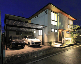 〜M・シェードとUCHI-MIZU(ウチミズ)で飾る素敵なお家の素敵な外構〜・・・豊橋市K様邸